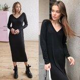 Длинное платье чёрного цвета