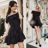Короткое платье - сарафан чёрное