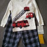 Комплект, пижама, новый Carter's Картерс , мальчику на 1-2 года, 18М