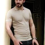 05-p1-194 Однотонная футболка пола цвета мокко Турция