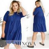 Легкое красивое платье размеры 48-60