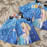 Летняя синяя юбка Эльза Дисней