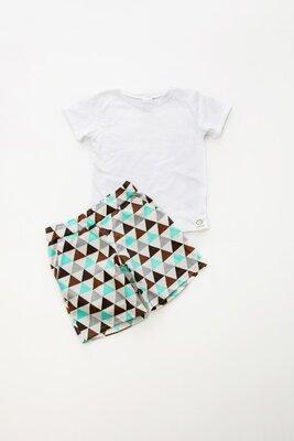 Летний стильный костюм для мальчиков футболка шорты 80-140 р 0-11 лет