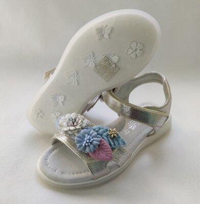 Детские босоножки сандалии сандали для девочек золотистые tom.m 27-32 7247H