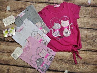 Нарядные футболки на 104-110-116,134-140.