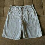 Белые, лёгкие мужские шорты, размер M-L