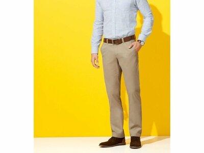 Светлые мужские штаны, брюки р.евро 48 м slim fit livergy чиносы