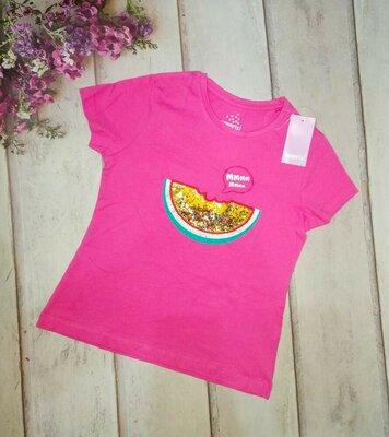 Красивая футболка для девочки Lupilu