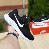 Кроссовки мужские Nike Air max, чёрные с белым