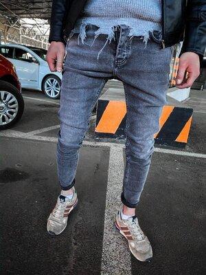 2020. Варианты. Европейское качество. Мужские стильные джинсы рваные зауженные 2Y Premium ph 18092