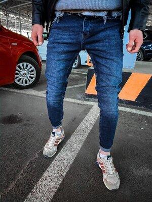2020. Варианты. Европейское качество. Мужские стильные джинсы рваные зауженные 2Y Premium ph 16449