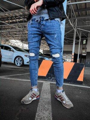 2020. Варианты. Европейское качество. Мужские стильные джинсы рваные зауженные 2Y Premium ph 17660