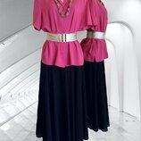 Идеальная светло бордовая блуза BHS из жатой ткани и текстильное колье