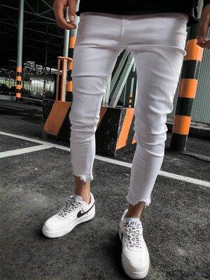 2020. Варианты. Европейское качество. Мужские стильные джинсы рваные зауженные 2Y Premium 3562 2C10