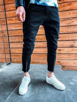 2020. Варианты. Европейское качество. Мужские стильные джинсы рваные зауженные 2Y Premium 3793 2B8