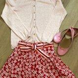 кардиган H&M, юбка H&M, балетки H&M