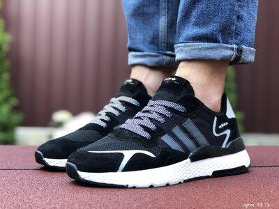 Кроссовки мужские Adidas Nite Jogger Boost, черный с белым