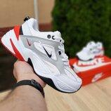 Кроссовки женские Nike M2K Tekno, белые с красным