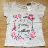 Новая фирменная футболка Primark на девочку, 4-5 лет