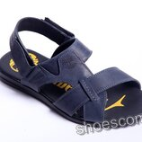 Мужские кожаные сандалии, босоножки, шлепанцы синие