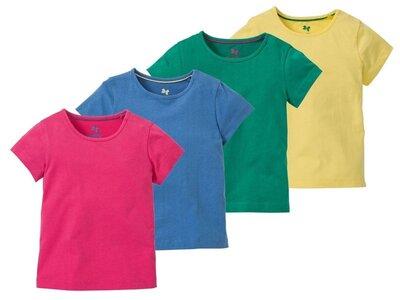 Яркая футболка для девочки Lupilu. 98-104, 110-116