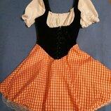 Баварский костюм Платье пивной официантки размер 46-48 прокат