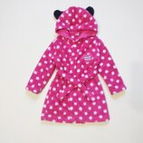 Милый пушистый халатик халат disney малышке 1-2 года