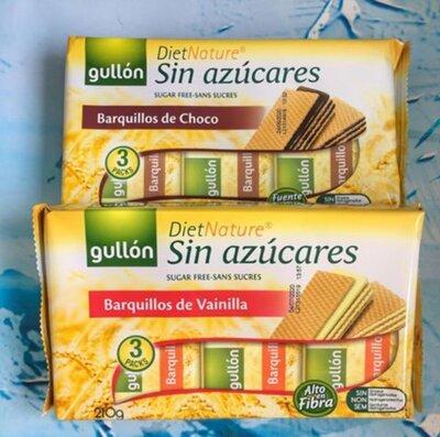 Вафли без сахара Gullon Diet Nature Ванильные 210g Испания