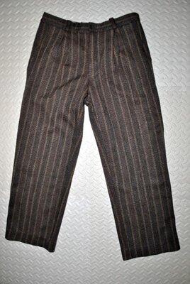 Штаны Пот45 теплые зимние Fred perry шерсть мужские коричневые брюки