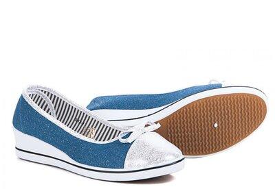 Супер Натуральные Туфельки Мокасины Та Танкетке Пудра И Голубые С Серебряным Напылением