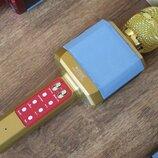 Беспроводной караоке микрофон Wster WS-1828 золотой