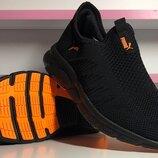Летние кроссовки Puma 41-45 размеры, черные кроссовки, кроссовки в сеточку пума