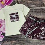 Шикарный набор футболка и шорты Инстаграм