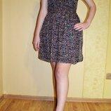 Шелковое цветочное платье Zara