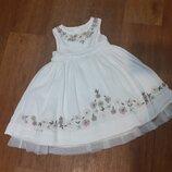 Платье нарядное, 100 коттон, 2-3 года, Zara