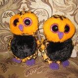 TY Beanie Boos глазастик яркая оранжевая сова HAUNT новая 15 см