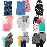Бодик бодики ромпер песочник платье набор комплект человечек пижамамайка картерс carters распродажа