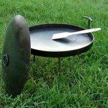 Дисковая сковорода для костра с крышкой