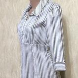 Блуза рубашка в полоску George , р.10-12
