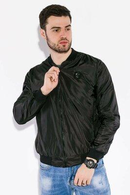 Чёрный мужской бомбер весенняя летняя мужская куртка чоловіча веснняна літня чорна куртка бомбер