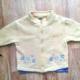 Фирменная флисовая курточка ветровка на 1-1,5 года