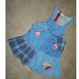 Сарафан детский джинсовый на девочку 1,5-2 года Next