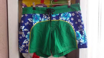 Мужские зеленые синие хлопковые шорты чоловічі зелені сині шорти Trusard Hand Made