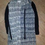 Вязаное пальто кофта кардиган