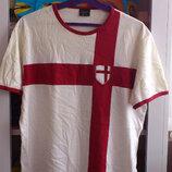 Футболка мужская белая хлопковая чоловіча біла бавовняна Next Некст England