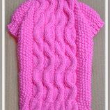 Одежда для миниатюрной породы собак Ручное вязание без швов