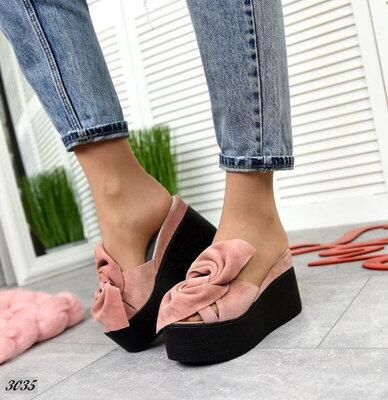 р.36-40 Натуральные женские сабо туфли шлепанцы . Расцветки в ассортименте