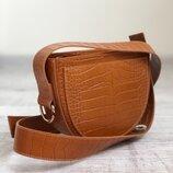 Шикарная итальянская кожаная коричневая сумка