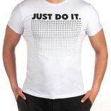 Мужская футболка JUST DO IT DR-6316 в расцветках.