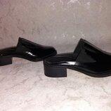 Стильные мюли на широком каблуке 37 р ZARA